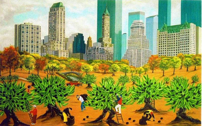 Raccolta delle olive a New York (fonte: frantoionline.it)