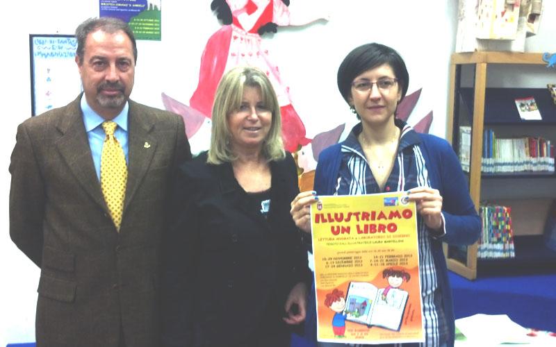 Stefano Baglioni, presidente Rotary Club, Giovanna Cameli, assessore, e Laura Martellini