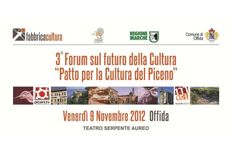 A Offida il Forum sul futuro della cultura