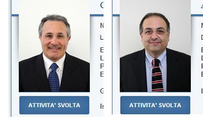 Amedeo Ciccanti e Luciano Agostini nelle schede della Camera dei Deputati