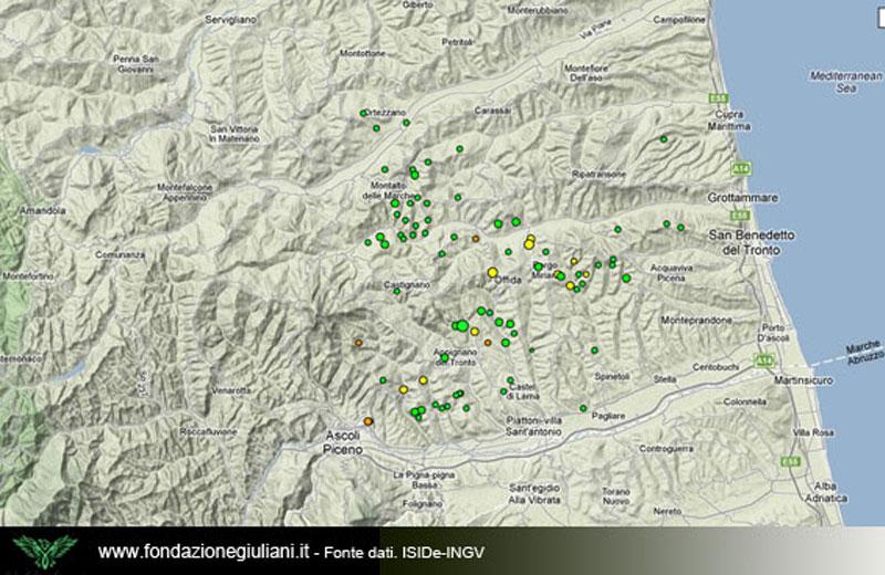 Terremoti nell'Ascolano dal 2009