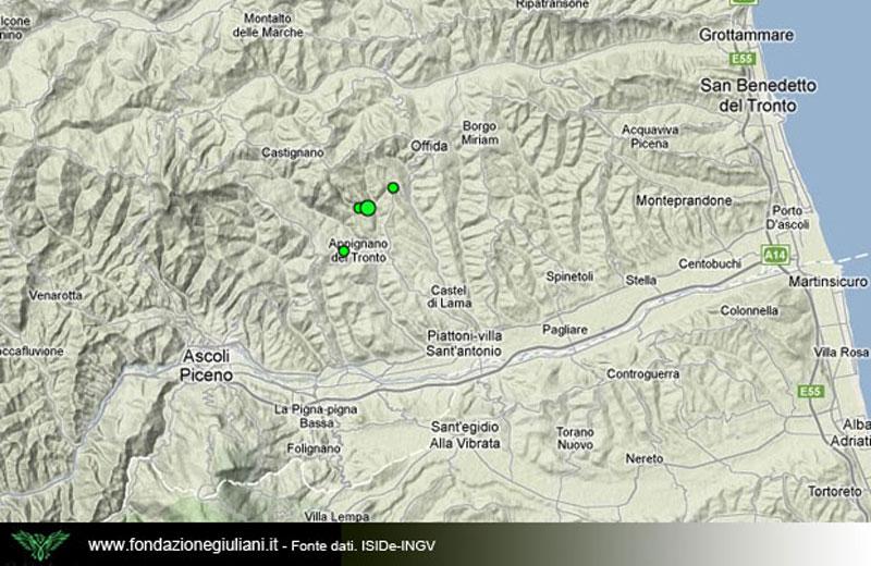 Terremoto ad Ascoli 5 dicembre 2012