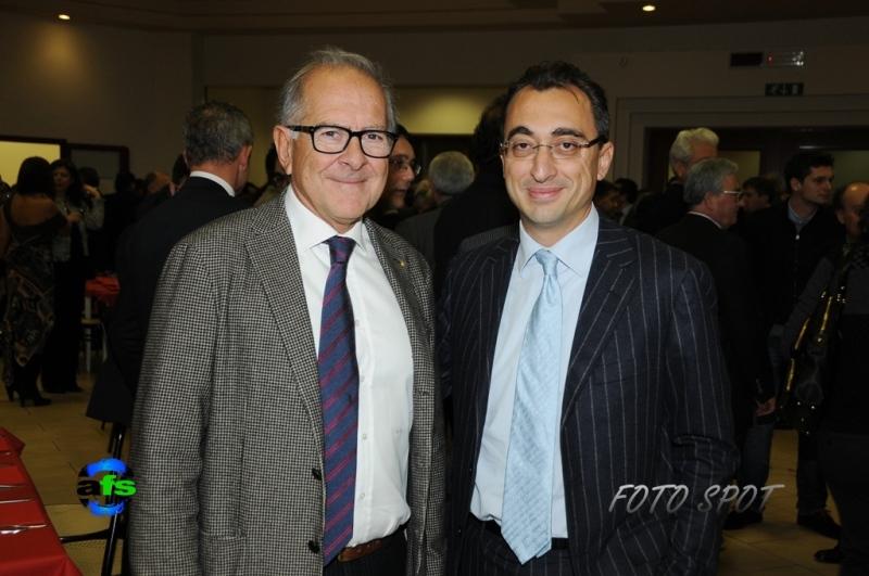 Cena di Confindustria, Bruno Bucciarelli con Massimo Andreani