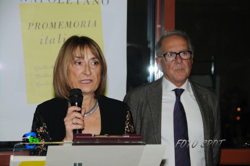 Cena di Confindustria, Graziella Patrizi con Bruno Bucciarelli