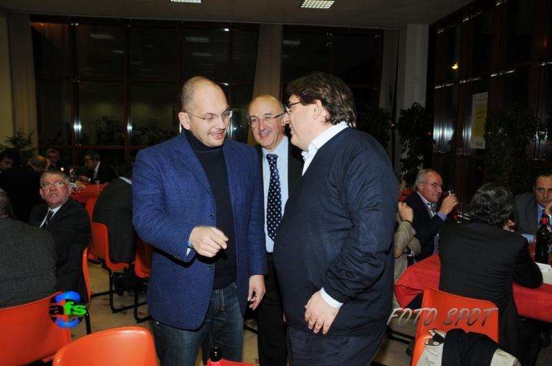 Cena di Confindustria, Guido Castelli con Roberto Napoletano e Ferruccio Squarcia
