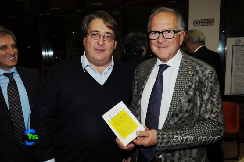 Cena di Confindustria, Roberto Napoletano con Bruno Bucciarelli