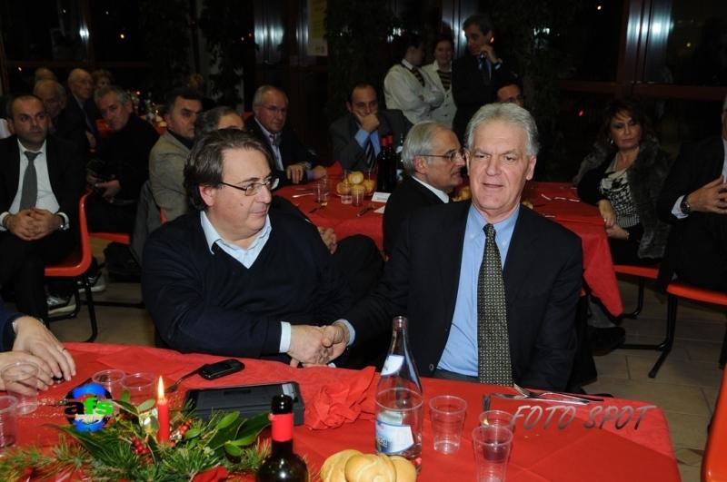 Cena di Confindustria, Roberto Napoletano con Piero Celani