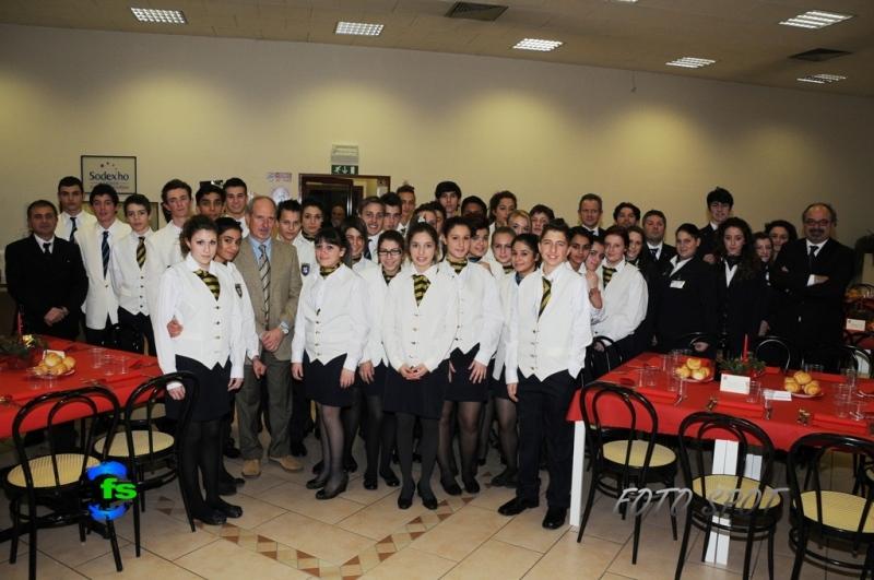 Cena di Confindustria, lo staff dell'Istituto Alberghiero di San Benedetto