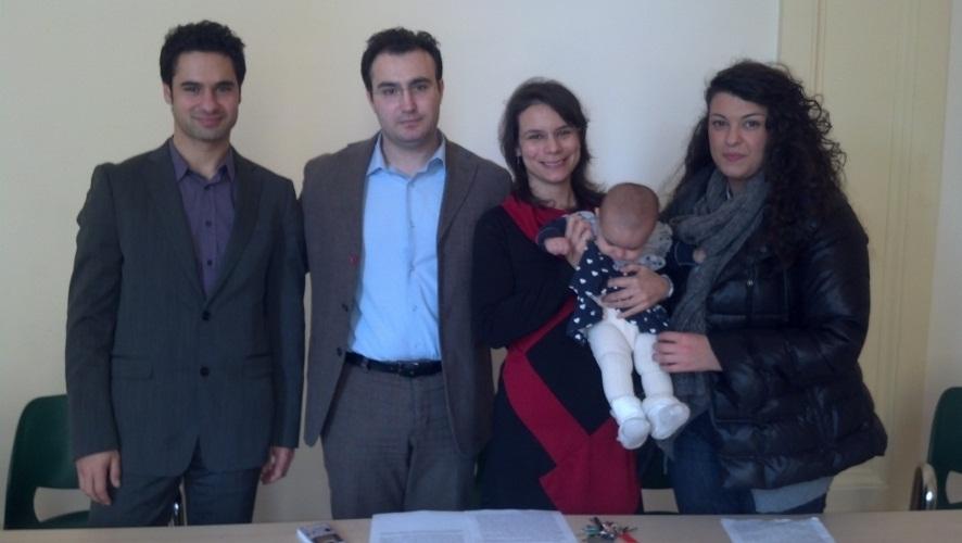 Da destra Francesco Eleuteri, Ivano Corradetti, Marilena Eleuteri, Luana Ventura