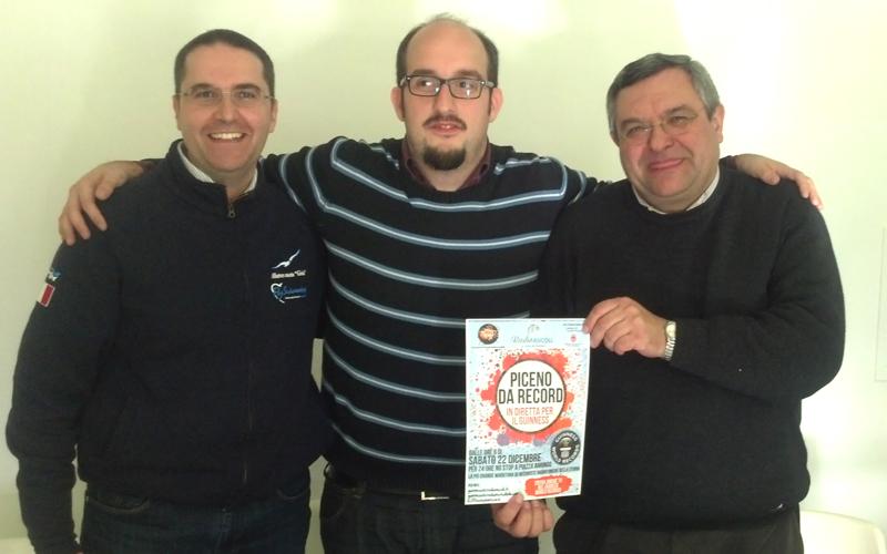 Massimiliano Brugni, Claudio Siepi e don Giampiero Cinelli presentano Piceno da Record
