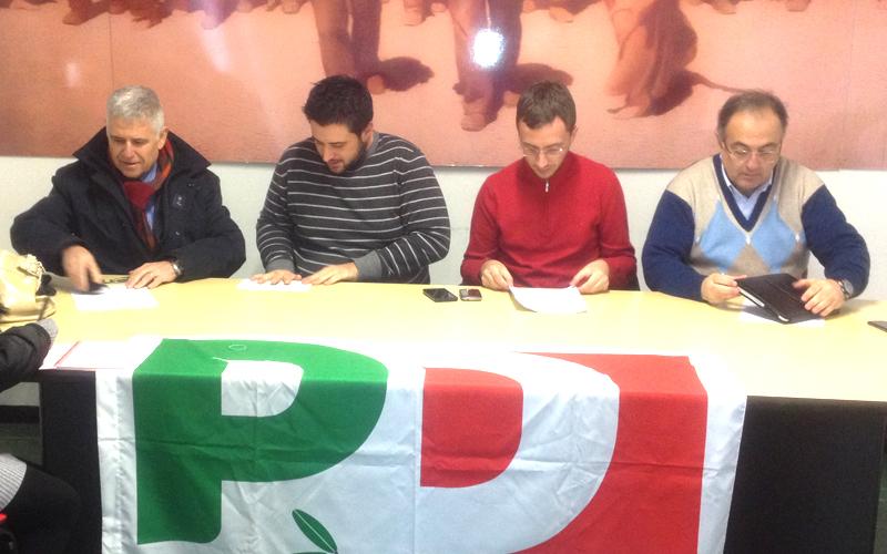Il Pd riflette: Roberto Allevi, Francesco Ameli, Alessio Ceci, Luciano Agostini