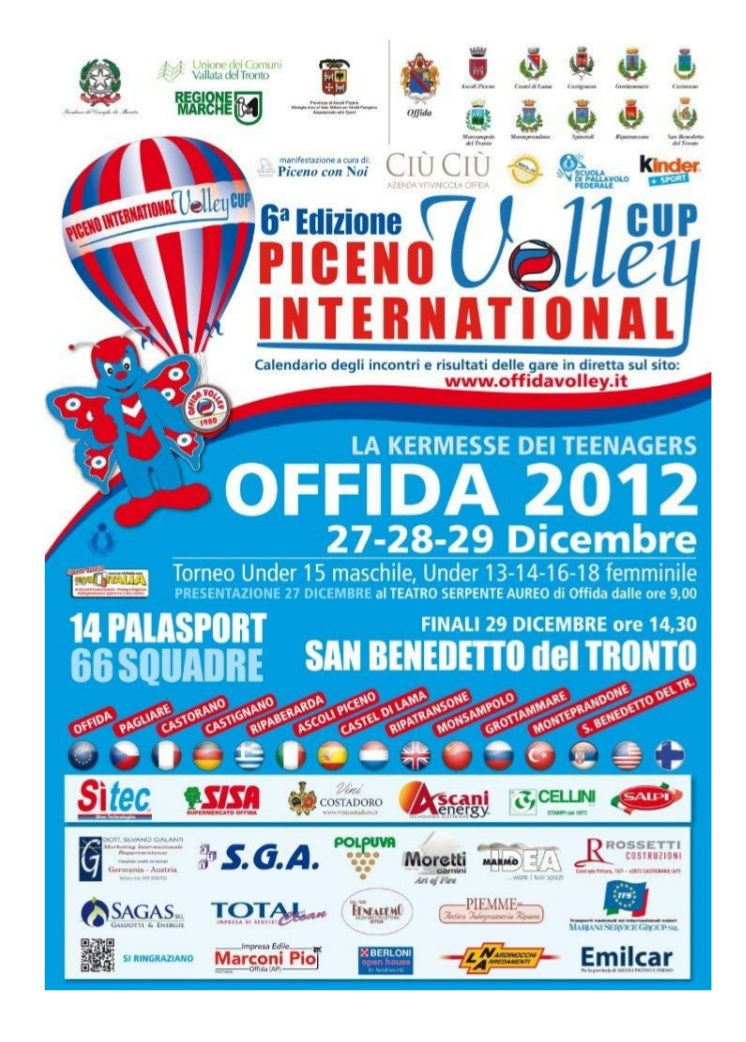 La locandina del Piceno Volley International 2012