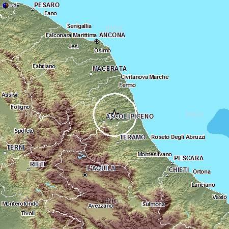 Terremoto in zona Ascoli Piceno alle 2,18 del 5 dicembre