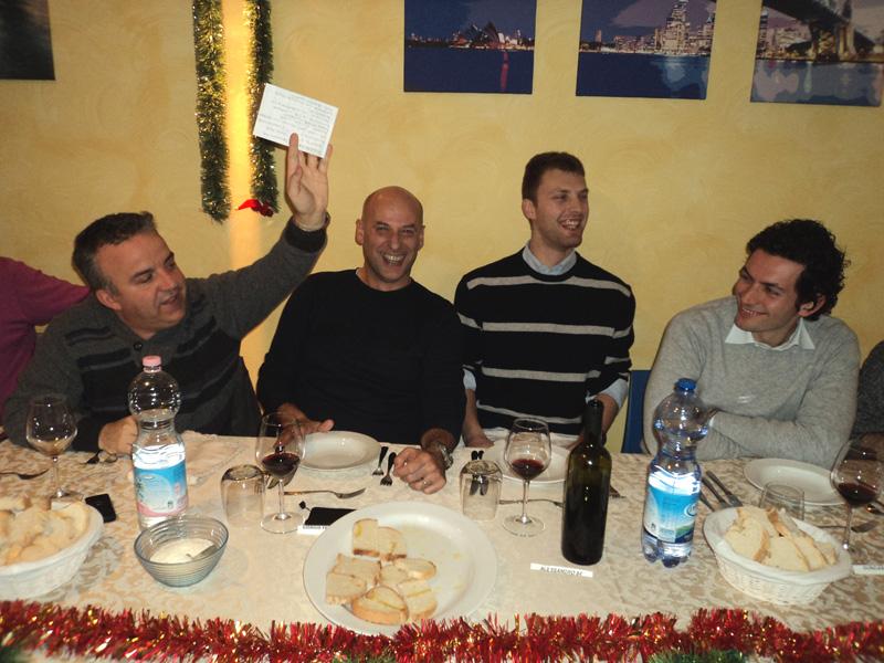 Un momento della prima cena con i nostri lettori e commentatori nel 2010
