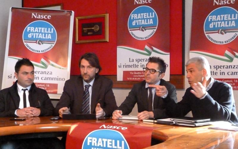 I Fratelli d'Italia del Consiglio comunale di Ascoli, Marco Cardinelli, Marco Cappelli, Marco Fioravanti e Giulio Natali