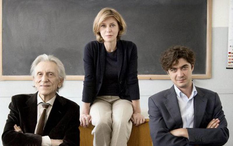 I protagonisti de Il rosso e il blu di Giuseppe Piccioni, da sinistra Roberto Herlitzka, Margherita Buy e Riccardo Scamarcio