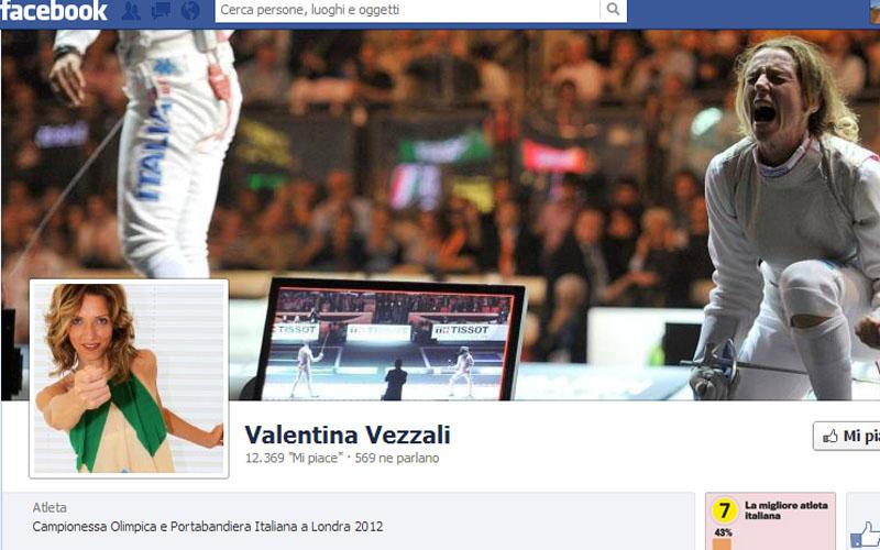 La pagina Facebook di Valentina Vezzali