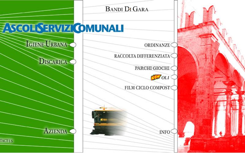 L'home page di Ascoli Servizi Comunali