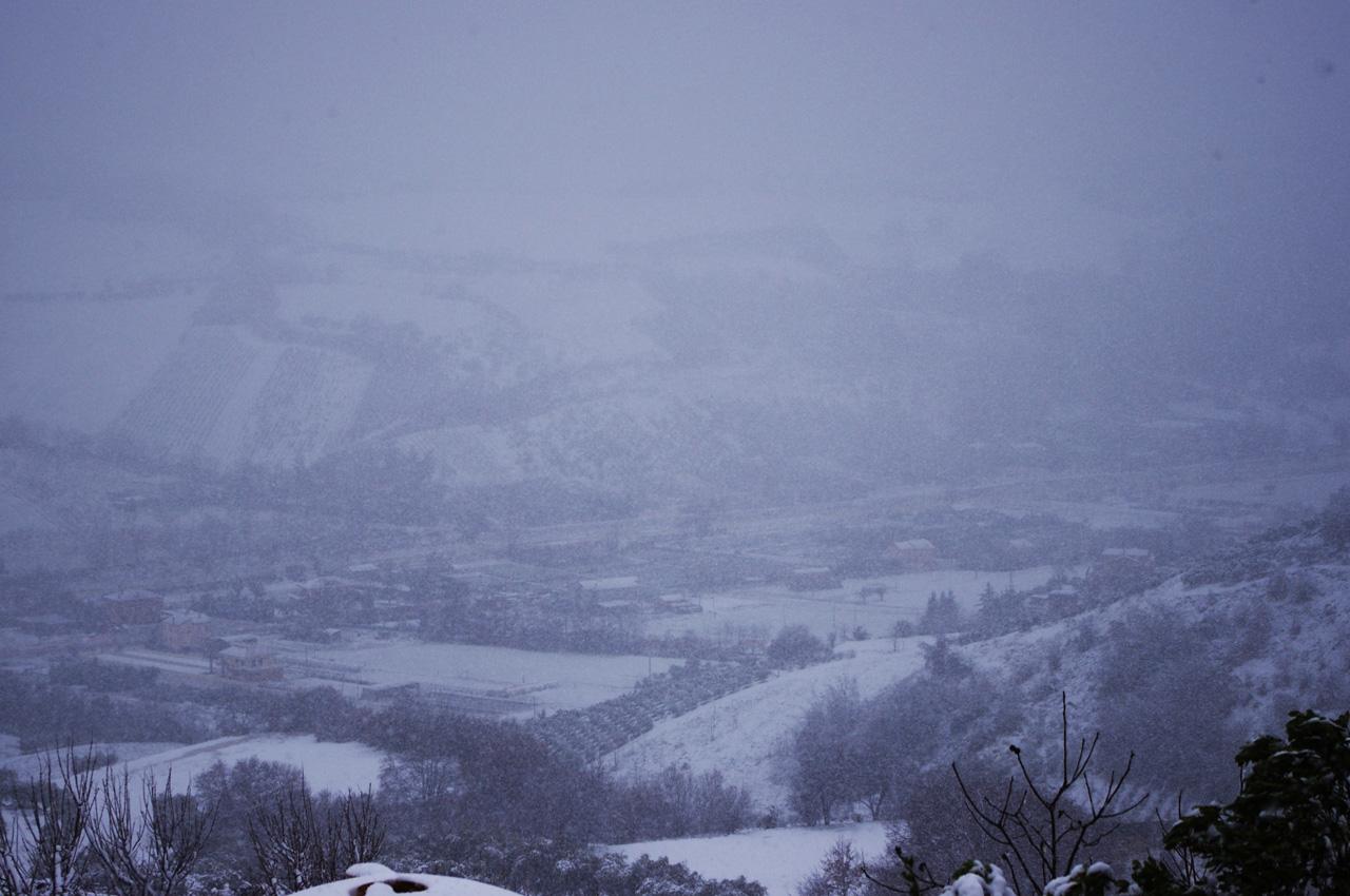 Neve a Ripatransone, 18 gennaio, foto di Roberto 3