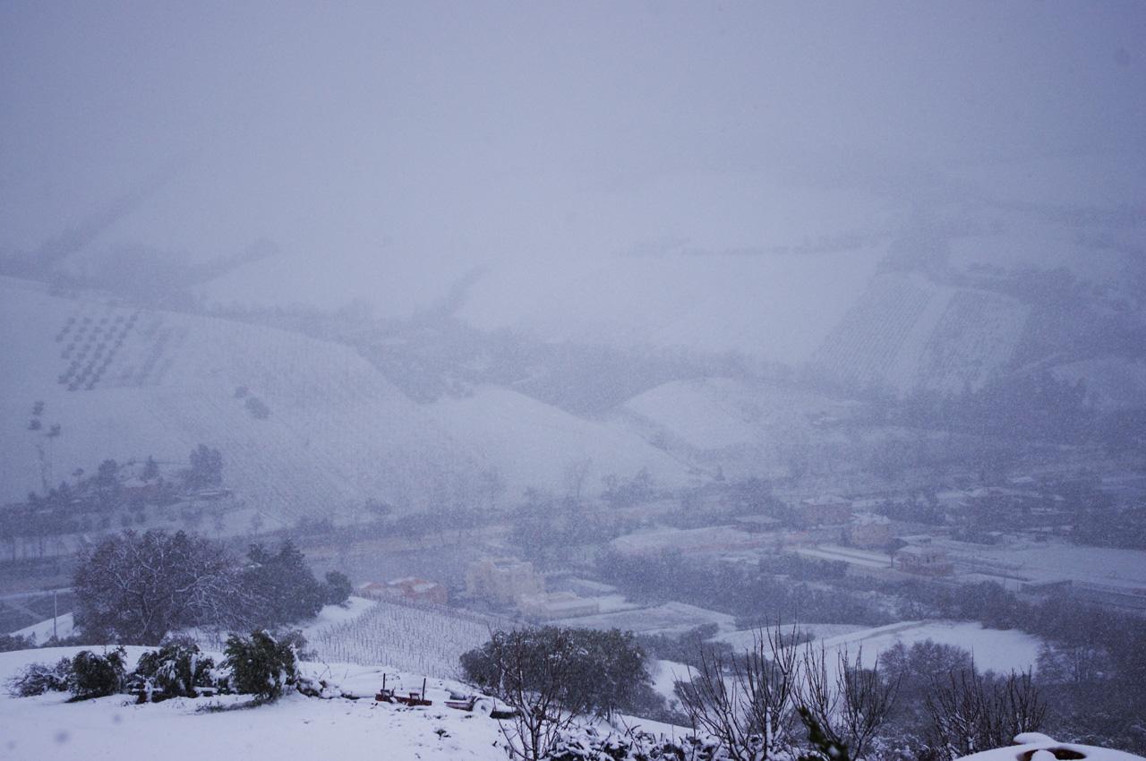 Neve a Ripatransone, 18 gennaio, foto di Roberto 4
