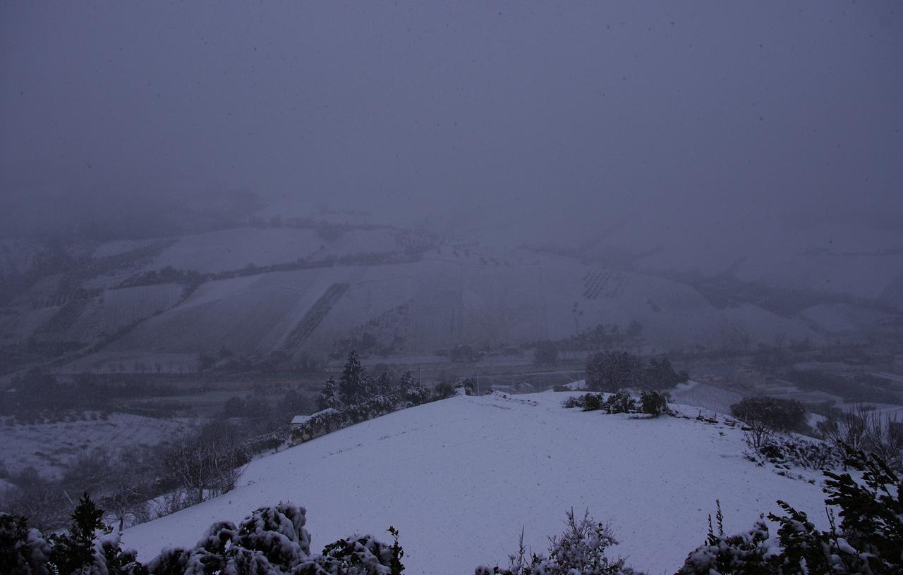 Neve a Ripatransone, 18 gennaio, foto di Roberto 5