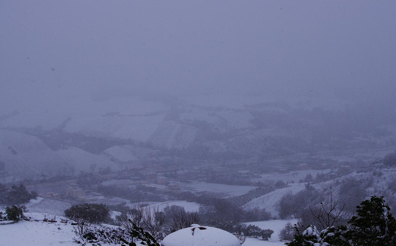 Neve a Ripatransone, 18 gennaio, foto di Roberto 6