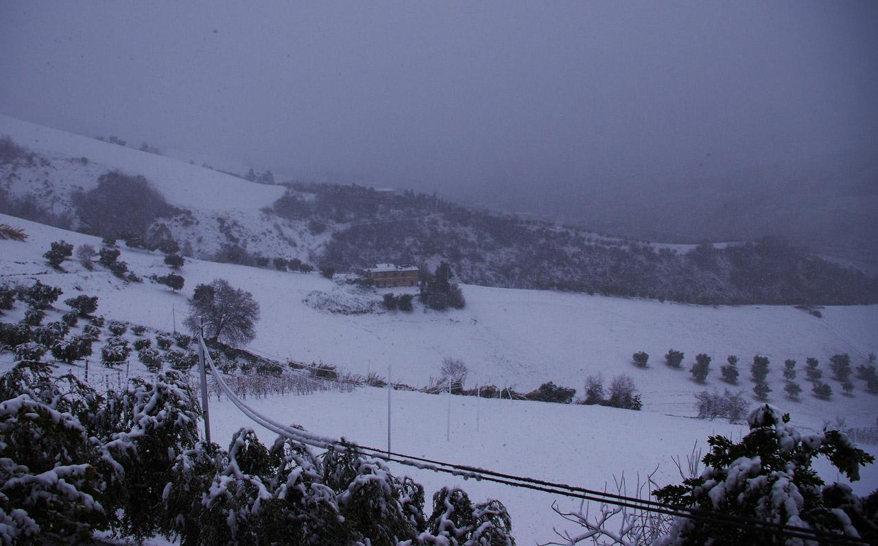 Neve a Ripatransone, 18 gennaio, foto di Roberto