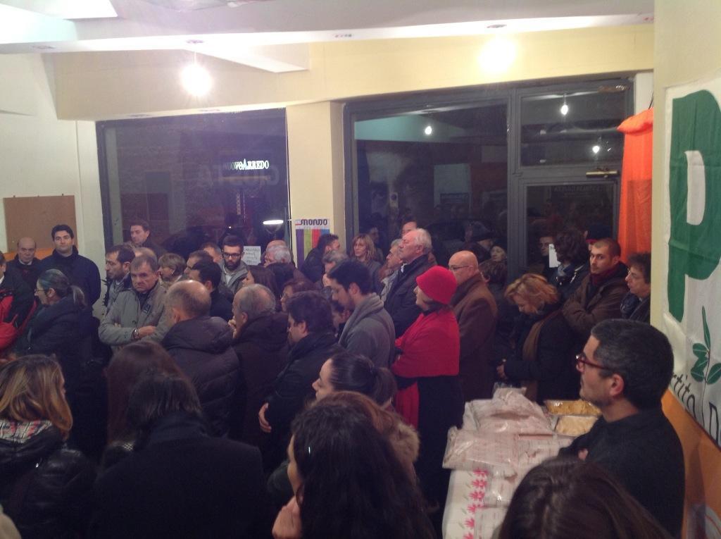 Tanta partecipazione all'inaugurazione della sede del Pd in corso Trieste