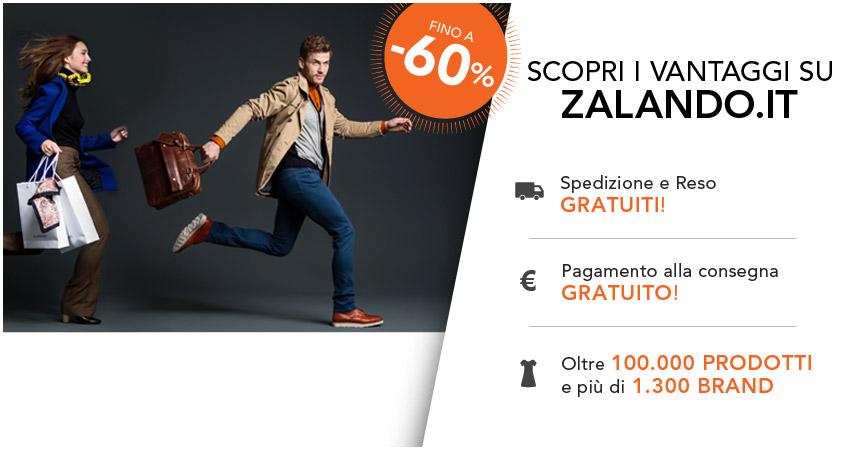 Zalando.it, il tuo guardaroba in un click