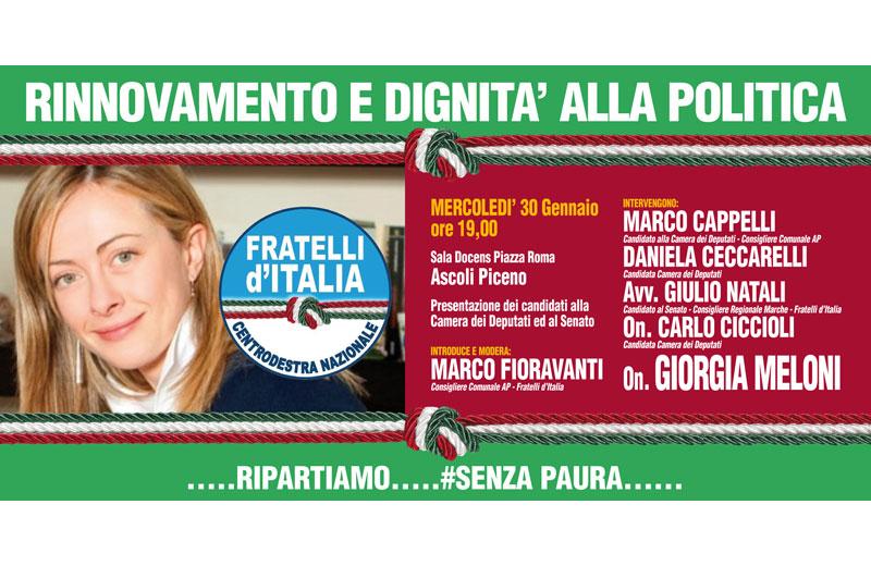 Giorgia Meloni ad Ascoli
