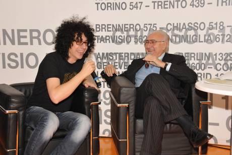 Pippo Baudo e Giovanni Allevi  (foto Ansa)