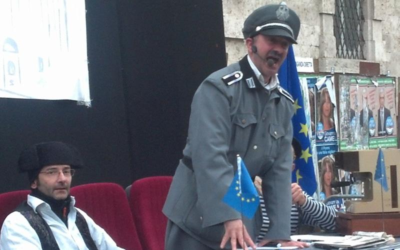 Carnevale ascolano 2013 (50) Commissione Europea, tedeschi un po' Hitler