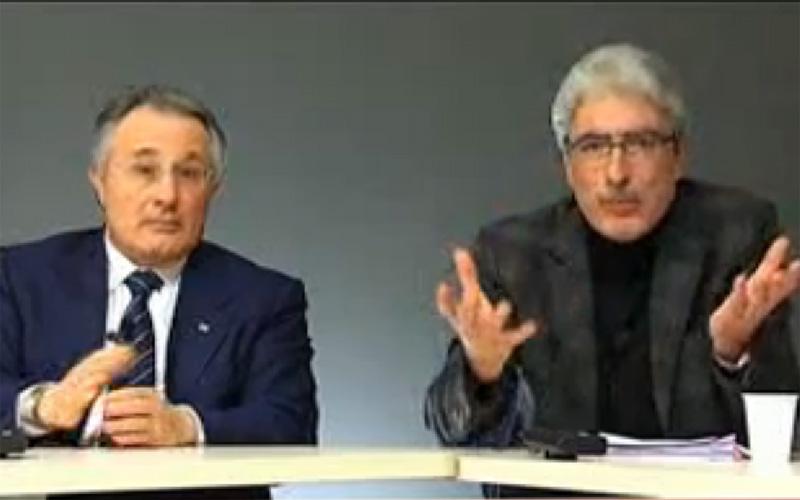 Ciccanti e Rossi durante YouRiviera Elezioni