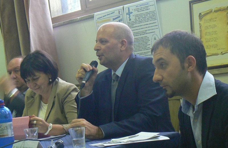 Emidio Cecchini, Lidia Borzì ed Emiliano Manfredonia