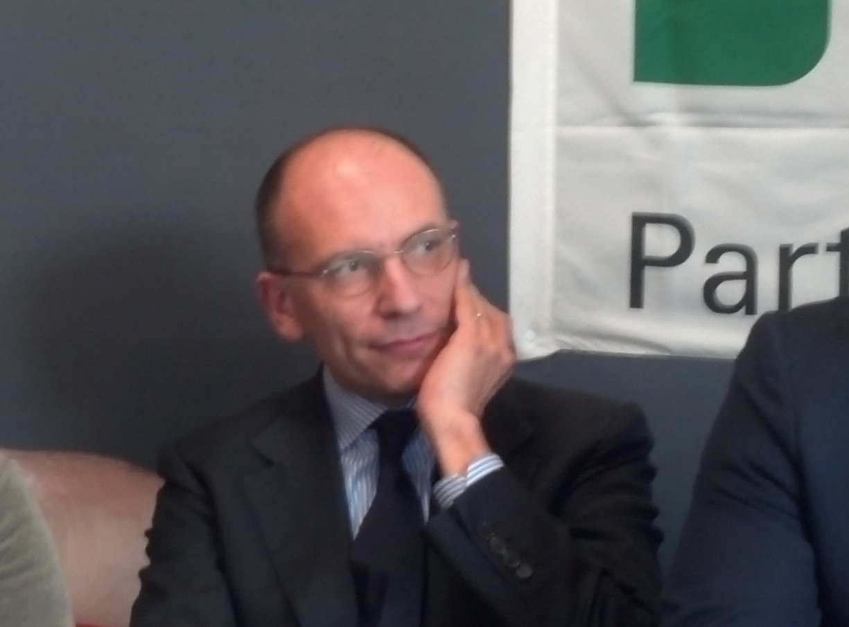 Enrico Letta ad Ascoli