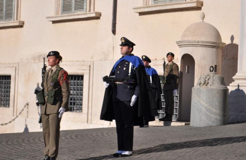 I soldati del 235° di guardia al Quirinale