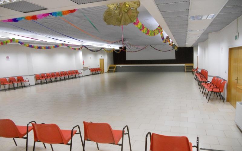 La sala polivalente che ospita il cinecircolo