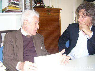 L'avvocato Luigi Natali qui con Fabrizio Roncarolo durante l'intervista rilasciata a Riviera Oggi nel giugno 2008