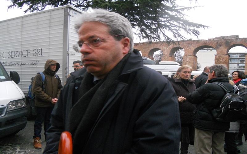 Piazza G. Pepe, l'arrivo di Gentiloni