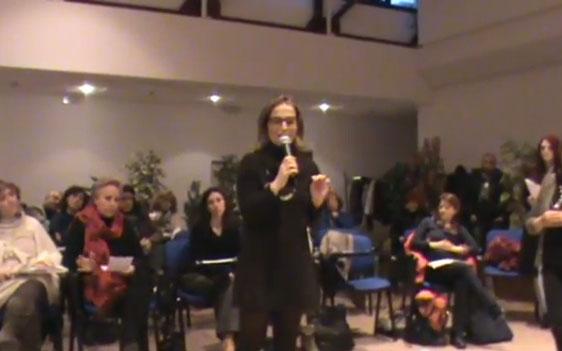Serenella Fucksia ad Osimo durante l'incontro di Se Non Ora Quando