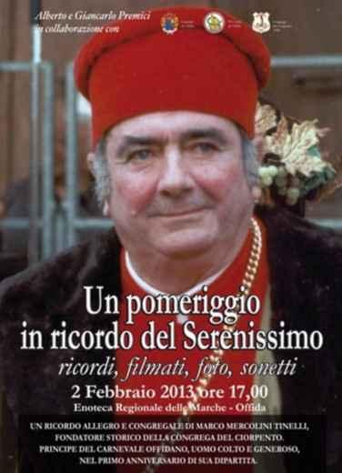 Un pomeriggio in ricordo del Serenissimo, locandina