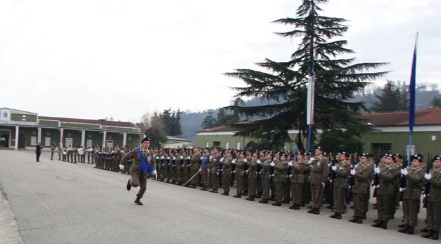 Caserma Emidio Clementi, 1° febbraio 2012 - Il Colonnello Vicari lascia il luogo della cerimonia