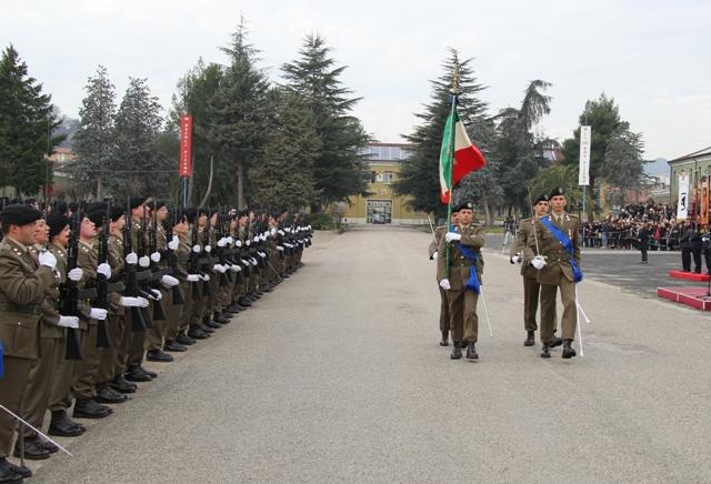 Caserma Emidio Clementi, 1° febbraio 2012 - la Bandiera di Guerra del 235°