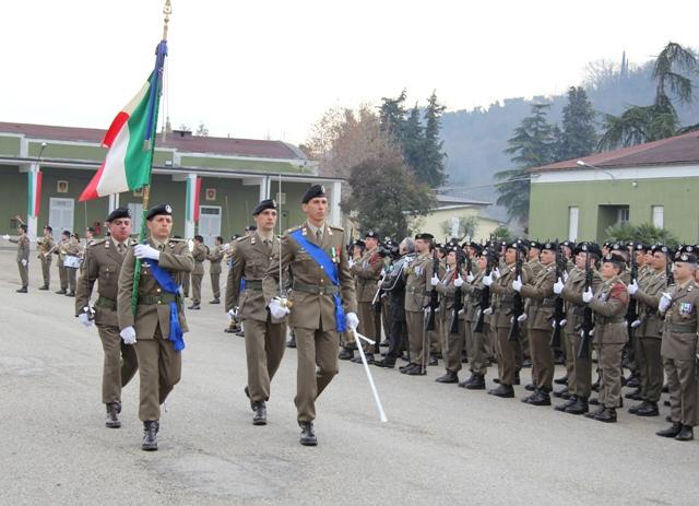 Caserma Emidio Clementi, 1° febbraio 2012- la Bandiera di Guerra del 235°