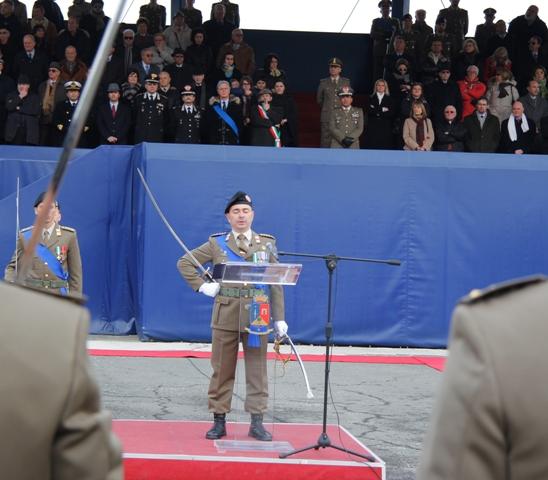 Caserma Emidio Clementi, 1° febbraio 2012 - l'intervento del Comandante del 235°
