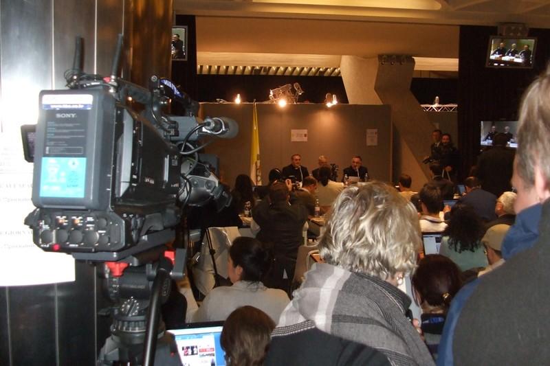 13 marzo 2013, Jorge Bergoglio nominato  sala stampa 2