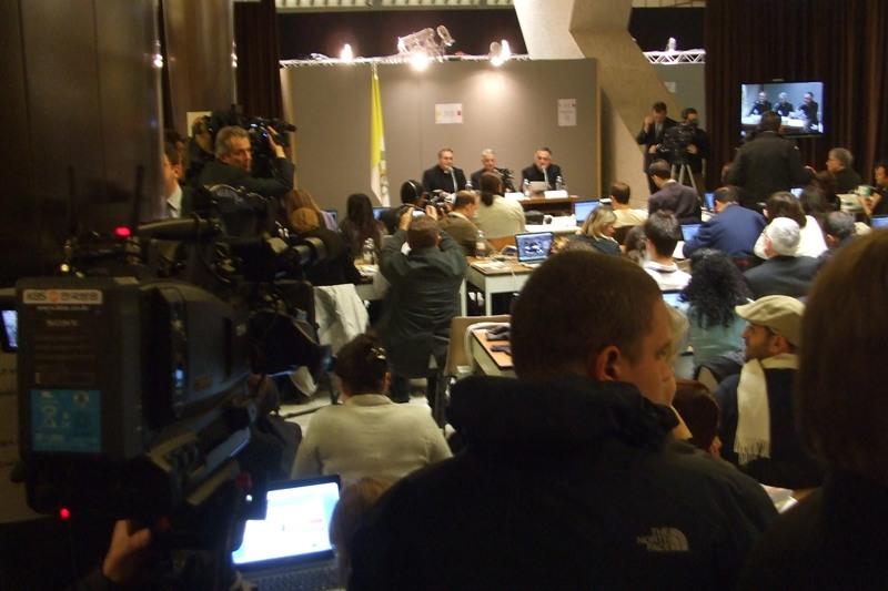 13 marzo 2013, Jorge Bergoglio nominato  sala stampa 3
