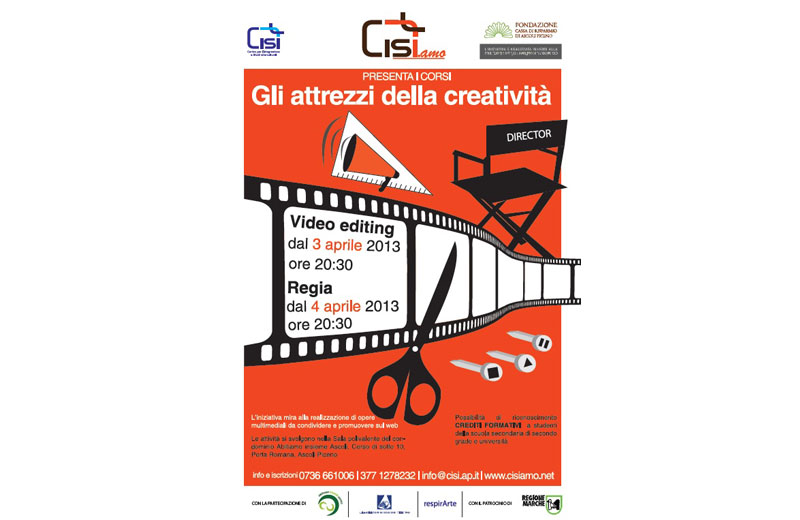 Ascoli, corsi di regia e video editing