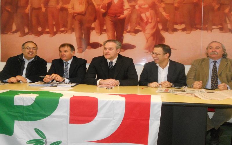 Da sinistra: Luciano Agostini, Emidio Mandozzi, Antimo Di Francesco, Paolo D'Erasmo, Lucio D'Angelo