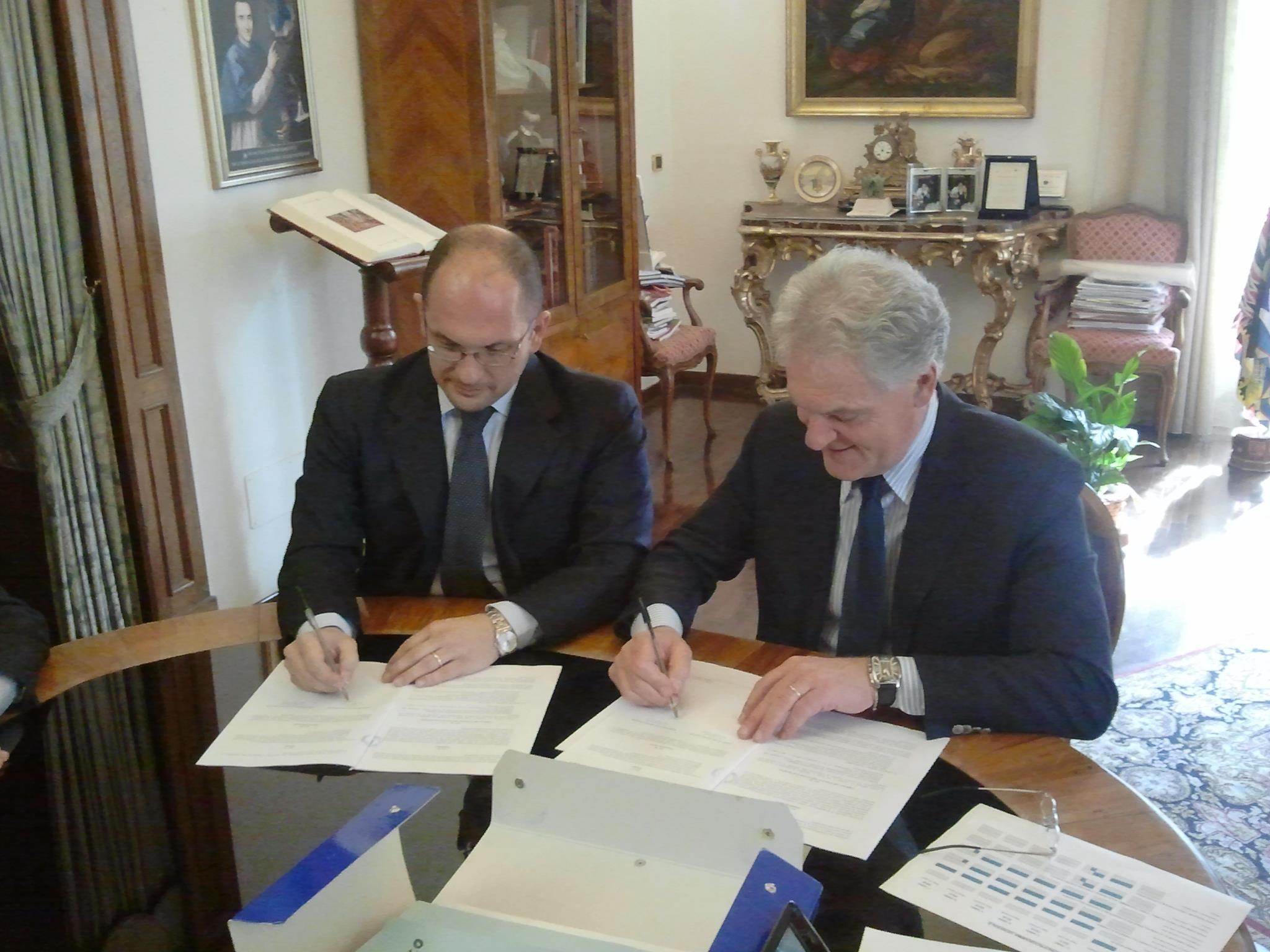 Guido Castelli e Piero Celani